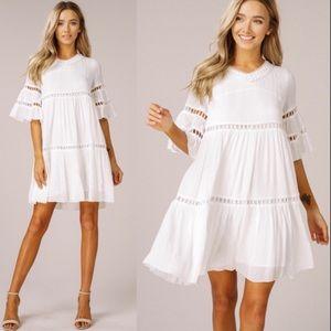Dresses & Skirts - JUST IN!! 💗🔥White Bell Sleeve Dress!